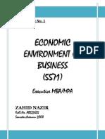 Assignment Economics Col MBA Semester 1