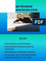 Tqm Program Implementation Steps