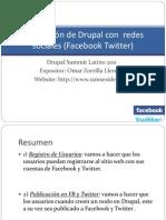 Integración de Drupal con  redes sociales (Facebook.ppt