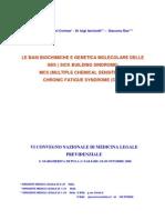 LE BASI BIOCHIMICHE E GENETICA MOLECOLARE DELLE  SBS  MCS CFS