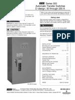 Asco Series 300 Ats Operators Manual