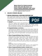 Pedoman Praktis Analisis Standar Belanja