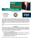 August Legislative Newsletter from Senator Neal Hunt