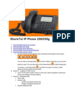 ShoreTel 230g Job Aid