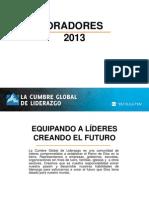 Oradores CGL 2013