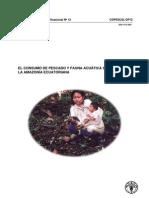 Consumo de Pescado y Fauna Amazonica en Ecuador