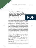 Sofaer Et Al (Mastroleo Trans.) (2012) Care After Research [Proof] [Spanish]