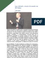 Adauto Lourenço defende a criação do mundo em entrevista ao JM Online