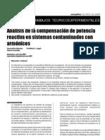 Análisis de la compensación de potencia en sistemas electricos contaminados con armonicos