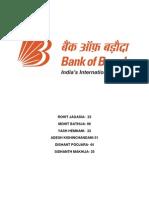 Book Report Bank of Baroda