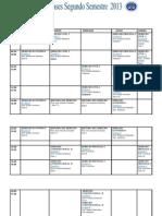 horario  modificado segundo semestre SEGUNDO AÑO