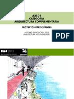 CATEGORIA A35 / ARQUITECTURA COMPLEMENTARIA