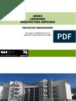 CATEGORIA A40 / ARQUITECTURA EDIFICADA
