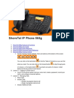 ShoreTel 565g Job Aid