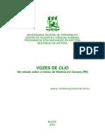 um estudo sobre ensino de história em caruaru