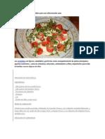 Ensaladas sencillas y saludables para una alimentación sana
