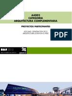 CATEGORIA A40 / ARQUITECTURA COMPLEMENTARIA