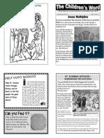 Children's Word bulletin for Sunday, August 18th, 2013
