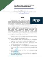 Proposal Kerja Praktek - Peta Proses Operasi Dalam Tata Letak Pabrik Dan Pemindahan Bahan Disektor Industri