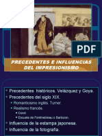 Precedentes e Influencias Del Impresionismo