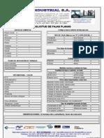 Formato de Fajas Planas - 2012