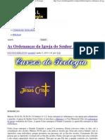 As Ordenanças da Igreja do Senhor Jesus _ Portal da Teologia.pdf