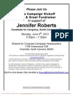 Campaign Kickoff Meet & Greet Fundraiser
