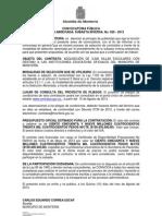 CONVOCATORIA PÚBLICA SILLAS ESCOLARES 2013