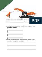 Examen Sobre Excavadora Sobre Orugas #1