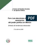Elecciones 2006 Tendencias Electorales - Cesop