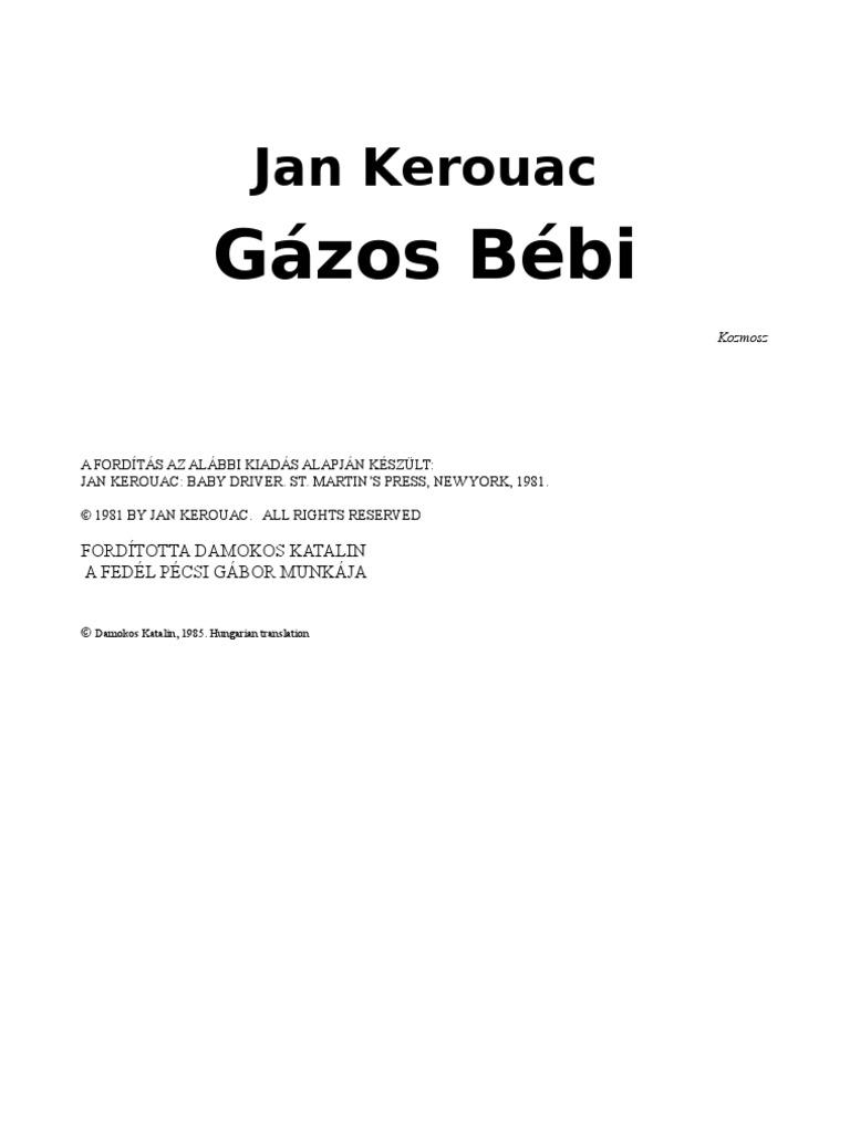 Kerouac Jan Gazos Bebi Hu Rtf 210a8ba13e
