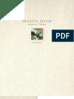 Annette Tatum Fall-Spring 2009 Catalog