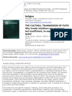 The Cultural Transmition of Faith