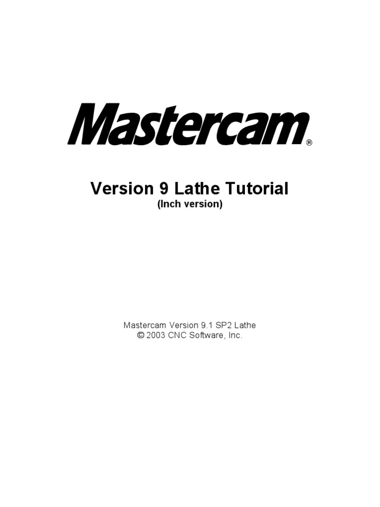 V9 1 Lathe Tutorial Change Pages (Inch) | Machine Tool | Source Code