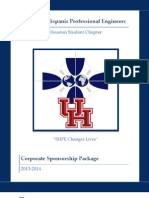2013-2014 shpe-uh corporate sponsorship package