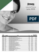 lista de precios junio 2009