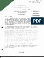 T3 B1 EOP- Press Interviews of Staff Fdr- Internal Transcript- 8-6-02 Pelley Interview of Ari Fleischer 949