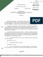 T3 B1 EOP- Press Interviews of Staff Fdr- Internal Transcript- 8-29-02 60 Minutes II Interview of Ashley Estes- Bush Secretary- VP to PEOC Just After 2nd WTC Hit