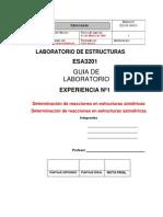 Cálculo Reacciones Isoestáticas
