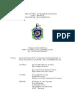 Intoxicaciones Por Plaguicidas Menores de 15 Anos Nicaragua 1995-2001