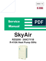 Daikin Sky Air (RZQ200-250C7Y1B) Service Manual