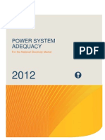 Power System Adequacy 2012