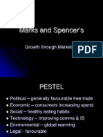 Marks and Spencer Growth Strategy