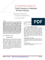 Handling Traffic Dynamics in Multipath Routing Topology
