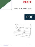 PFAFF 1520 30 40 English 109p
