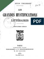 Thierry Augustin-Jules-Gilbert - Les Grandes Mystifications Litteraires Deuxieme Serie