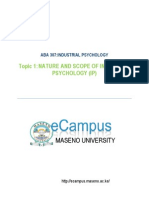 NATURE AND SCOPE OF INDUSTRIAL PSYCHOLOGY (IP)
