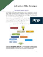 Dónde y cuándo aplicar el Plan Estratégico y el Canvas 4 pp