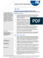 Analysis of Judicial Standards Bill