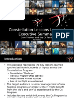 Constellation Lessons Learned PPT